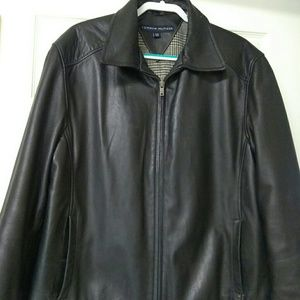 Men's Genuine leather TOMMY HILFIGER JACKET